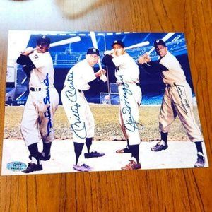 Mickey mantle Joe dimaggio mays Snider signed
